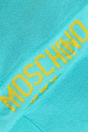 MOSCHINO Cropped stretch-knit cardigan