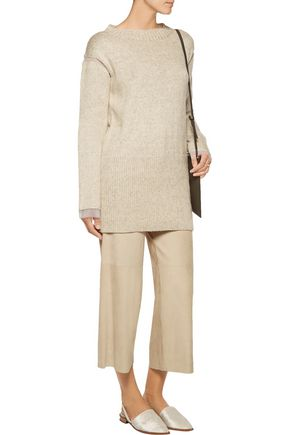 MARNI Organza-trimmed knitted sweater