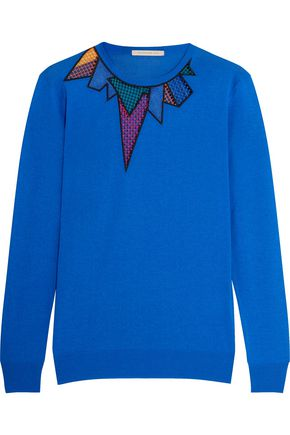 CHRISTOPHER KANE Embroidered jersey sweater