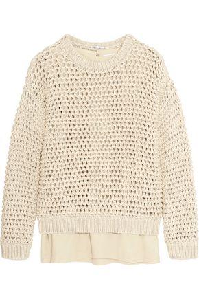 BRUNELLO CUCINELLI Open-knit cotton-blend sweater ...
