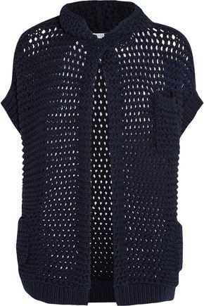 BRUNELLO CUCINELLI Open-knit cotton-blend hooded cardigan