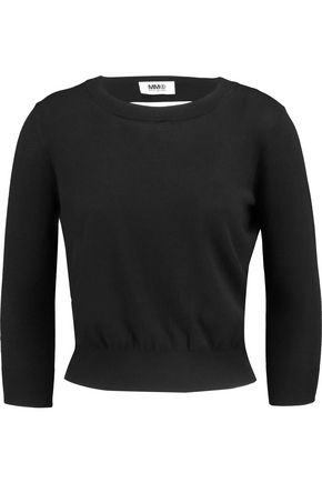 MM6 MAISON MARGIELA Cutout stretch-knit top