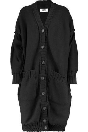 MM6 by MAISON MARGIELA Braided-trimmed knitted cardigan