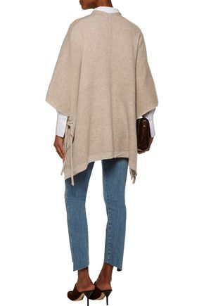 DUFFY Waffle-knit wool and cashmere-blend cardigan