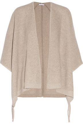 DUFFY Draped wool and cashmere-blend cardigan