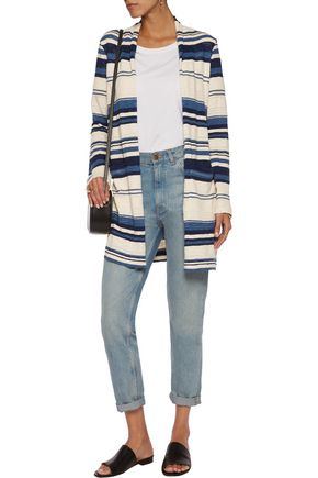 SPLENDID Striped slub cotton cardigan