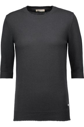 NINA RICCI Frayed cashmere sweater