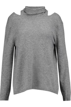 HALSTON HERITAGE Cutout wool and cashmere-blend sweater
