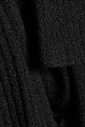 HALSTON HERITAGE Ribbed-knit cardigan