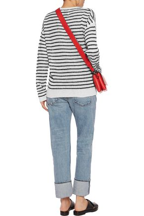 ZOE KARSSEN Appliquéd striped knitted sweater