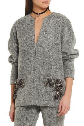 BY MALENE BIRGER Francoise embellished boiled wool-blend sweater