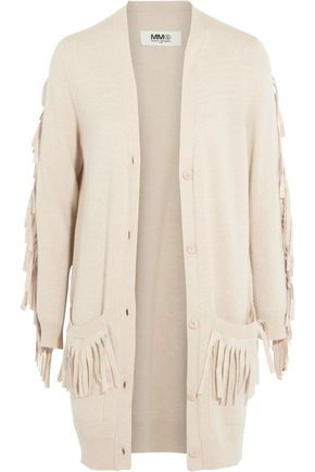 MM6 by MAISON MARGIELA Fringed knitted cardigan