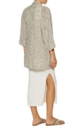 LINE Colby distressed cotton-blend sweater