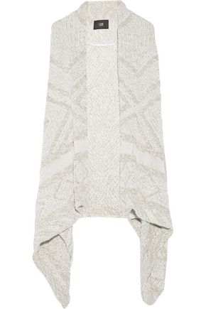 LINE Flint asymmetric cotton and linen-blend vest