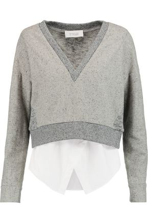 DEREK LAM 10 CROSBY Cotton and stretch-knit tank and sweater set