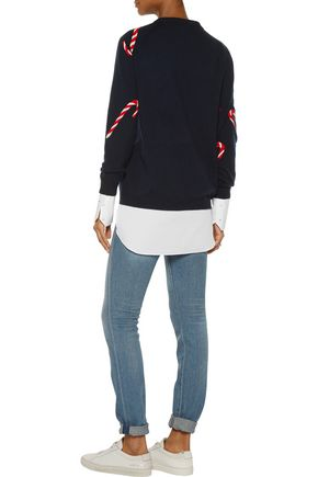 CHINTI AND PARKER Intarsia-knit merino wool and cashmere-blend sweater
