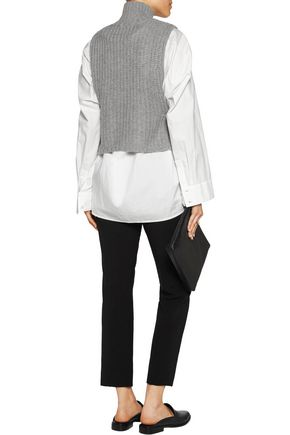 AUTUMN CASHMERE Cropped knitted turtleneck top