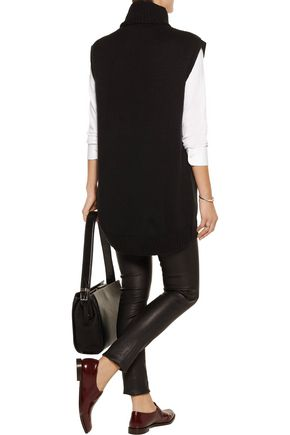 LINE Alexander waffle-knit cotton-blend turtleneck vest
