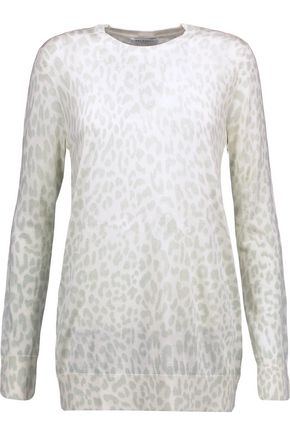 EQUIPMENT Rei leopard-intarsia silk sweater