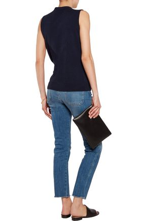 IRIS AND INK Tie-front cashmere top