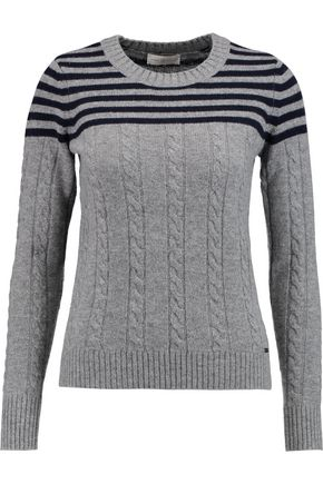 TORY BURCH Sharlene ribbed cable-knit sweater