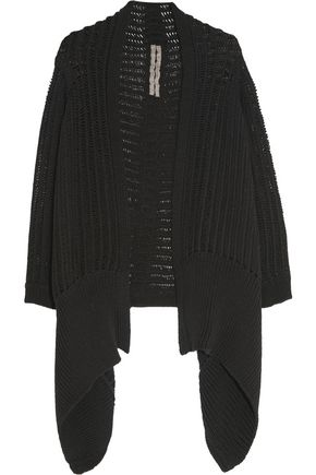 RICK OWENS Open-knit cotton-blend wrap