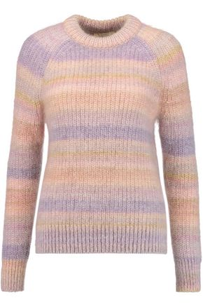 MICHAEL KORS COLLECTION Striped mohair and silk-blend sweater