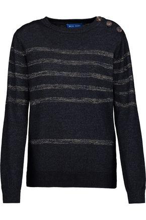 M.I.H JEANS Sophia Breton metallic striped cotton-blend sweater
