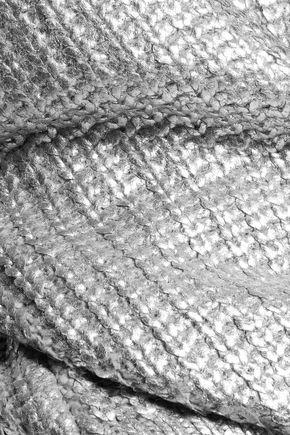DKNY Oversized metallic chunky-knit sweater