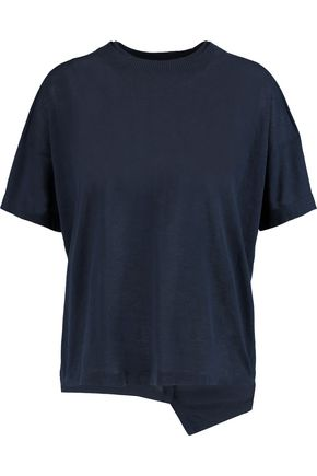 JOSEPH Asymmetric mélange cotton-jersey T-shirt