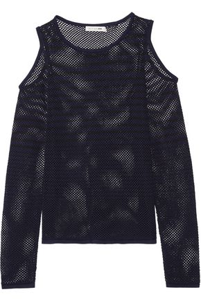RAG & BONE Brenna cutout cotton-mesh top