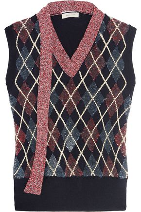 MARC JACOBS Embellished wool-blend top