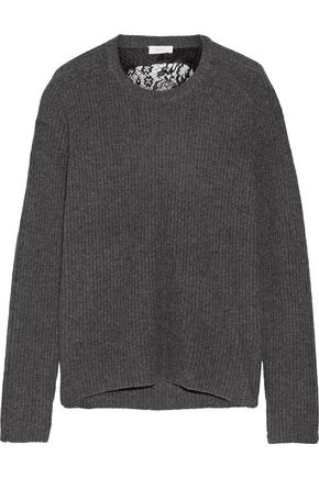 A.L.C. Peter cutout ribbed merino wool and cashmere-blend sweater