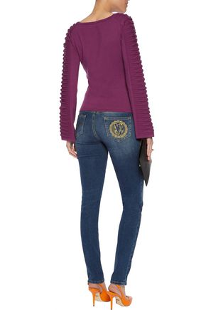 VERSACE COLLECTION Pleated knitted sweater