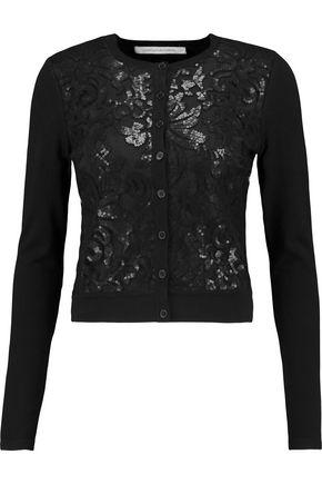DIANE VON FURSTENBERG Ibiza sequined mesh-paneled silk-blend cardigan