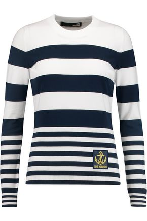 LOVE MOSCHINO Striped knitted sweater