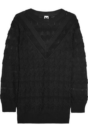 M MISSONI Maglia wool-blend crochet-knit sweater