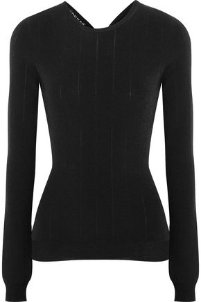 ROCHAS Cutout ribbed-knit top