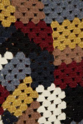 ROSETTA GETTY Crocheted alpaca-blend poncho