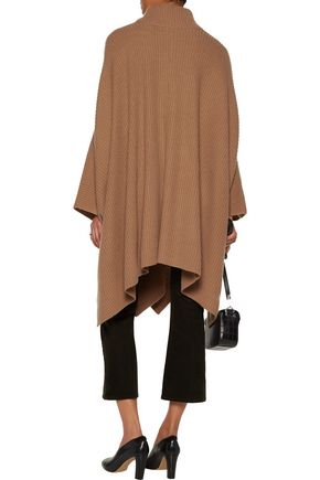 A.L.C. Rory draped ribbed merino wool and cashmere-blend poncho