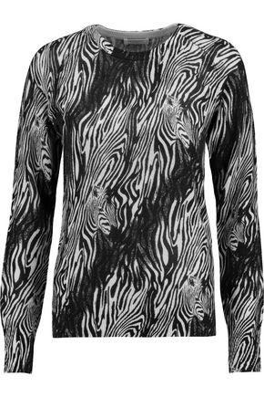 EQUIPMENT FEMME Sloane instarsia-knit cashmere sweater
