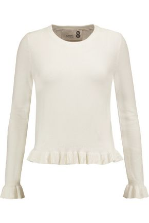 8 Ruffled stretch-knit sweater