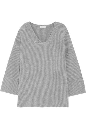 CHINTI AND PARKER Ribbed merino wool and cashmere-blend sweater