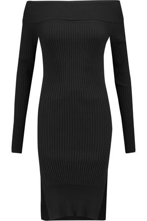 BY MALENE BIRGER Maseto off-the-shoulder ribbed stretch-knit sweater