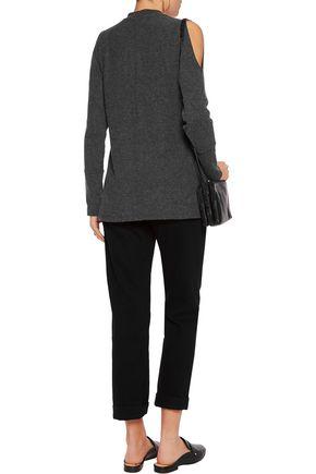 TART COLLECTIONS Gila cold-shoulder fleece sweater