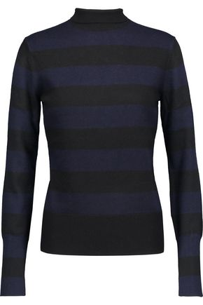 RAG & BONE Careen striped wool and cashmere-blend turtleneck sweater