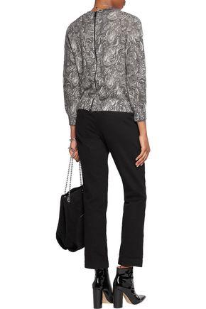 JUST CAVALLI Intarsia mohair-blend cardigan