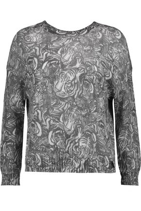 JUST CAVALLI Intarsia mohair-blend cardigan