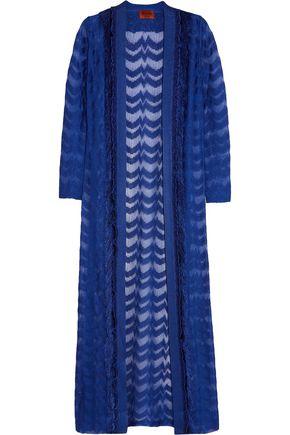 MISSONI Fringed metallic crochet-knit cardigan