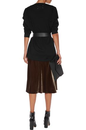 MAISON MARGIELA Draped stretch-wool cardigan